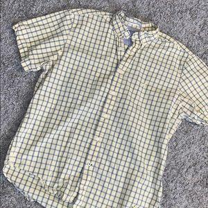 Nautica yellow button down shirt SZ L